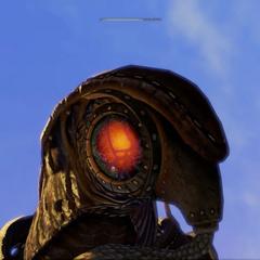 El Songbird en modo ataque (ojo rojo)