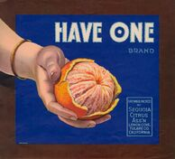 Have One fruit crate label
