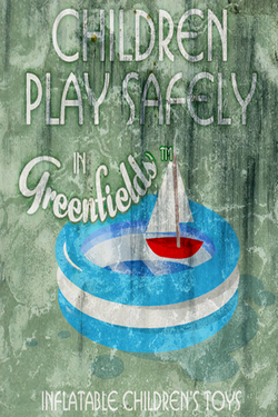 Greenfields inflatable ad