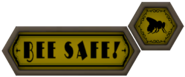 Bee Safe sign