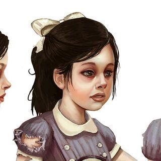 Boceto facial de BioShock 2