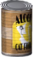 Aloof Cat Food Model Render