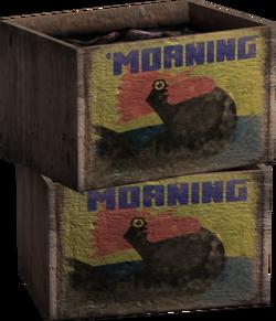 'Morning Brand Crates Model Render