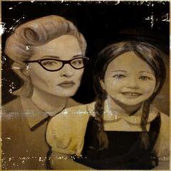 Eleanor de pequeña junto su madre, <a href=