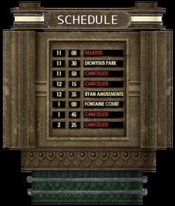 Atlantic Express train schedule