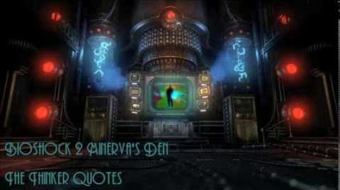 Spoiler Alert! Bioshock 2 Minerva's Den The Thinker Quotes Dialogue