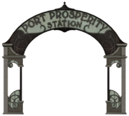 Port Prosperity Station sign