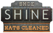 Shoe Shine Hats Cleaned sign