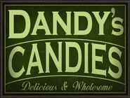 Dandy's Candies Sign