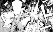 Rentaro is kicked by Enju