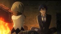 Kayo and Rentaro chat