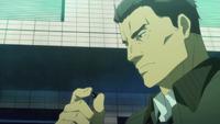 Tadashima looks at Rentaro's Black Bullet