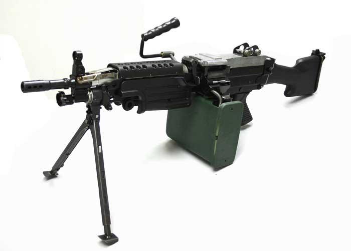 Light Machine Gun Saw An M249 SAW  on which the
