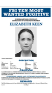 Elizabeth Keen Wanted Poster