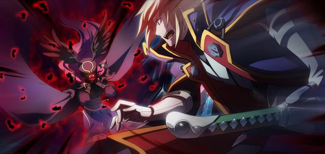 File:Tsubaki Yayoi (Chronophantasma, Arcade Mode Illustration, 1).png