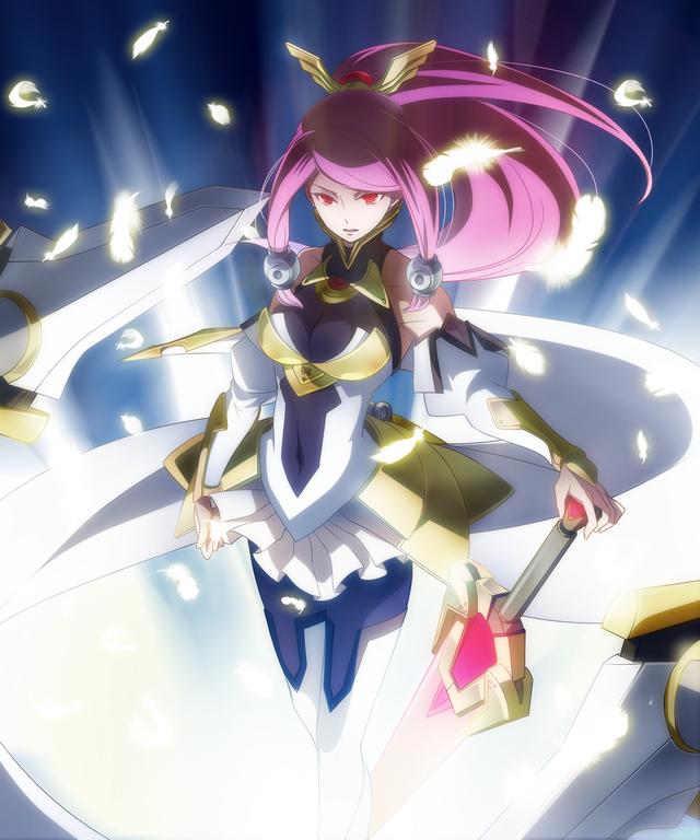 File:Tsubaki Yayoi (Chronophantasma, Arcade Mode Illustration, 3, Type B).png