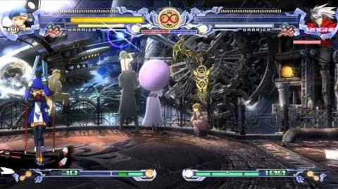 BlazBlue Calamity Trigger - All Cast vs Unlimited Ragna (Hell) v2