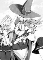 BlazBlue Phase Shift 1 (Black and white illustration, 2)