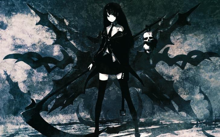 Image black rock shooter death scythe anime girls - Anime scythe wallpaper ...