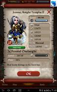 Jeanne, Knight Templar II