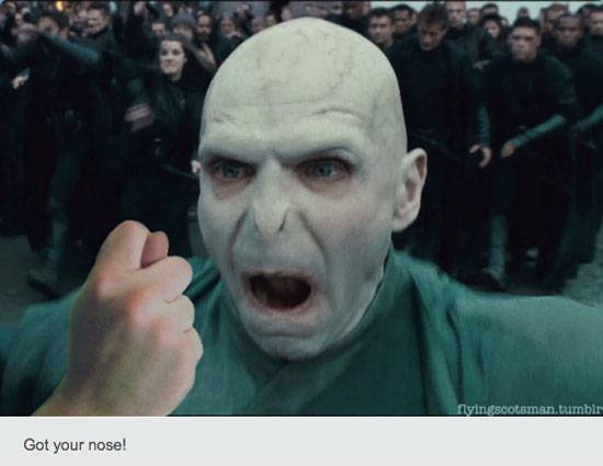 Playing 'I got your nose' with Voldemort - Home | Facebook