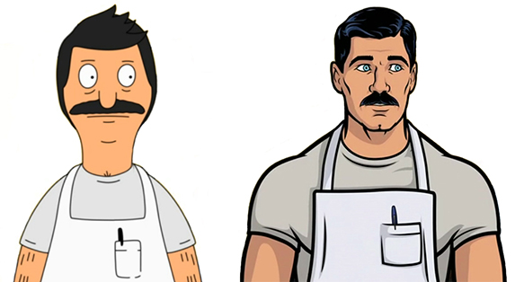 Bobs-Burgers-Wiki Archer Bob Split-comparison 01a