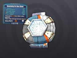 LV 28 Devastating Fire Nova Shield