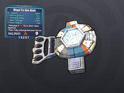 LV 30 Winged Fire Nova Shield