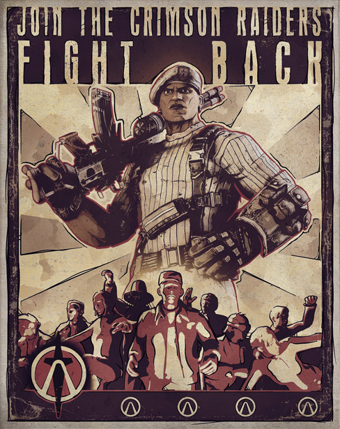 Crimson Raiders   Borderlands Wiki   Fandom powered by Wikia Borderlands Characters Brick