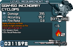 GGN450 Incendiary Cyclops