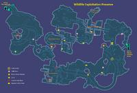 Wildlife Exploitation Preserve Map