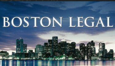 Boston Legal - Boston Skyline with Script