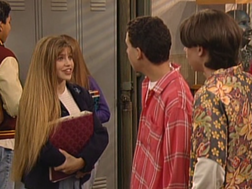Topanga's hair long