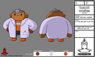 BW - Model - 6 Yr Old Wallow in Lab Coat