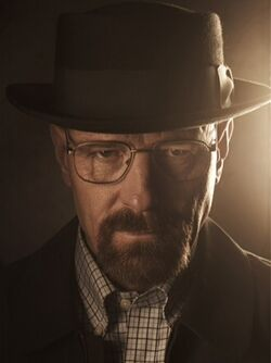 Walter White (with hat on)