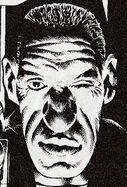 Judge Dredd wearing somebody else's face