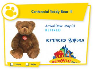 Centennial Teddy Bear III