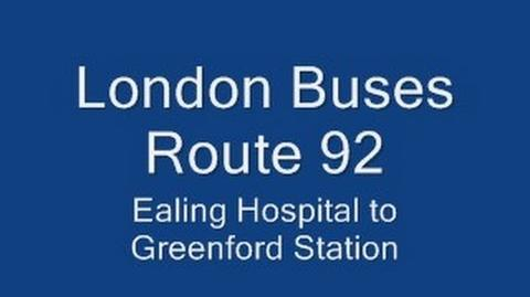 London Buses Route 92