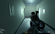Hallway leading to live broadcast area Charlie Don't Surf CoD4