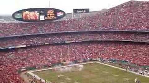 Stealth Bomber flyover at Arrowhead