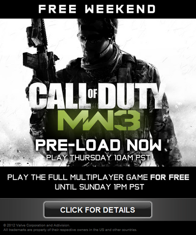 File:Free weekend MW3.png