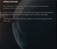 Strike Packages menu Extinction CoDG