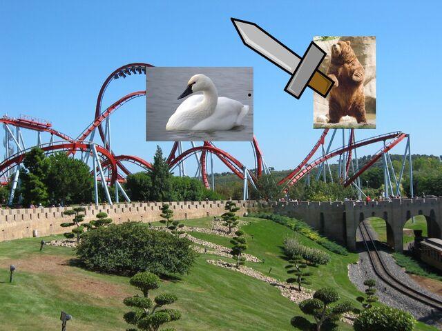 File:Bear fighting swan on a rollercoaster.jpg