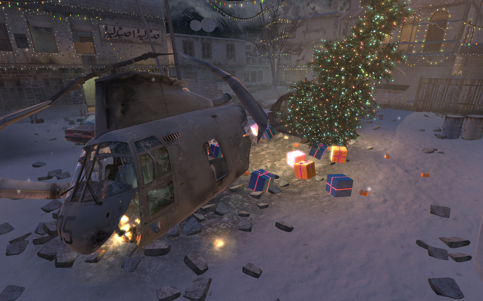Image - Crashed Helicopter Winter Crash CoD4.png   Call of ...