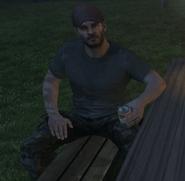 Mason drinking beer BOII