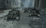 Destroyed Abrams tanks MW3