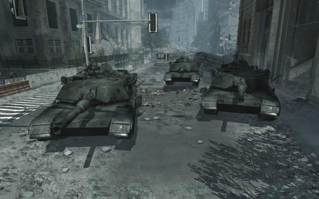 File:Destroyed Abrams tanks MW3.png
