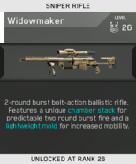Widowmaker Unlock Card IW