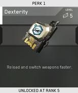 Dexterity Unlock Card IW