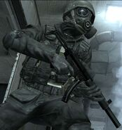 Holding an MP5, COD4 -2